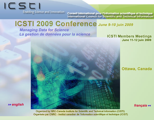 Welcome/Bienvenue ICSTI 2009